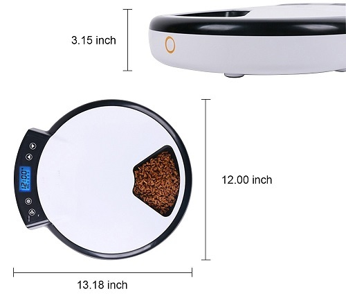 jempet automatic pet feeder dimension image